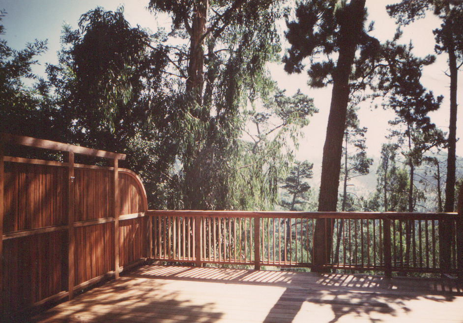 New deck and railing in the Oakland Hills