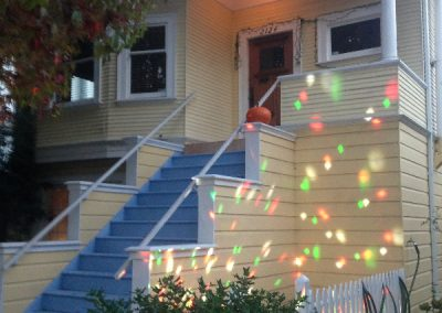 After with Christmas Lights