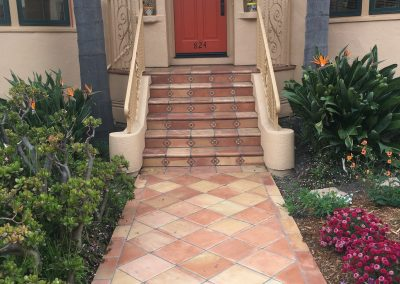 New front steps and walkway
